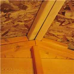 20ft x 10ft  (6.05m x 2.99m) - Dip Treated Overlap - Apex Wooden Garden Shed - 12 Windows - Double Doors - 10mm Solid OSB Floor