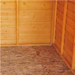 INSTALLED 10ft x 8ft (2.99m x 2.39m) -  Dip Treated Overlap - Apex Garden Shed - 6 Windows - Double Doors - 10mm Solid OSB Floor