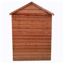 4ft x 3ft (0.91m x 1.20m) - Overlap Shed - Double Doors - Windowless - Shelving - 10mm Solid OSB Floor