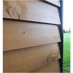 12ft x 12ft (3.59m x 3.73m) - Premier Reverse Wooden Studio Summerhouse - 2 Windows - Double Doors - 20 mm Walls