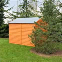 8ft x 6ft (2.39m x 1.82m) - Dip Treated Overlap -  Apex Garden Shed - Windowless - Double Doors - 10mm Solid OSB Floor
