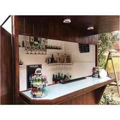 INSTALLED 6ft x 4ft (1.79m x 1.19m) - Premier Garden Bar And Store  - 12mm Walls - Roof - Floor INSTALLATION INCLUDED
