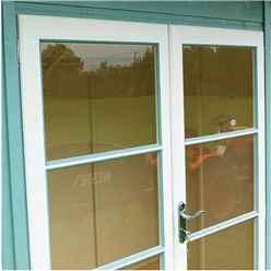 INSTALLED 10ft x 6ft (2.99m x 1.79m) - Premier Pent Wooden Summerhouse - 4 Windows - Double Doors - 12mm T&G Walls & Floor INSTALLATION INCLUDED