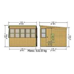 INSTALLED 10ft x 6ft (3.04m x 1.79m) - Premier Pent Wooden Summerhouse - Potting Shed - 2 Opening Windows - Single Door - 12mm T&G Walls - Floor - Roof INSTALLATION INCLUDED