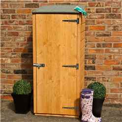 2ft x 2ft  (0.63m x 0.59m) - Tongue & Groove - Pent Garden Store - Windowless - Single Door - 11mm Solid OSB Floor