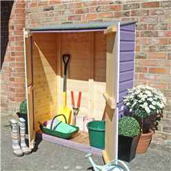 2ft x 4ft  (0.64m x 1.22m) - Tongue & Groove - Pent Garden Store - Windowless - Double Doors - 11mm Solid OSB