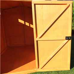 8ft x 6ft  (2.39m x 1.79m) - Tongue And Groove Security - Apex Garden Wooden Shed Workshop - Single Door - 12mm Tongue And Groove Floor And Roof