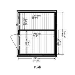 7ft x 6ft (2.22m x 1.95m) - Tongue And Groove - Apex Shed With Log Store - 1 Window - Single Door - 12mm Tongue And Groove Floor & Roof