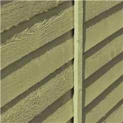 8ft x 6ft  (2.38m x 1.79m) - Pressure Treated Overlap - Apex Garden Shed - Windowless - Double Doors - 10mm Solid OSB Floor
