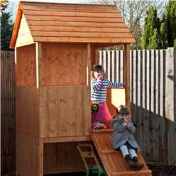 4ft x 4ft (1.20m x 1.20m) - Stowe Lookout Playhouse - 12mm Tongue & Groove - Apex Roof