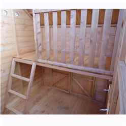7ft x 6ft  (2.09m x 1.79m) - Crib Playhouse - 12mm Tongue and Groove - 3 Windows - Single Door & Double Doors - Apex Roof (CORE)
