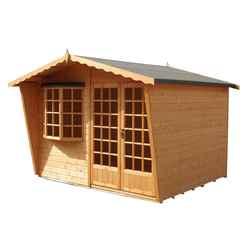 10ft x 6ft (3m x 1.79m) - Premier Wooden Summerhouse - 12mm T&G Walls - Floor - Roof