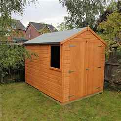 8ft x 6ft (2.38m x 1.78m) - Tongue And Groove - Apex Garden Shed / Workshop - 1 Window - Double Doors - 10mm OSB Floor
