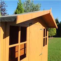 7ft x 7ft (2.05m x 1.98m) -  Stowe Tongue & Groove - Apex Garden Shed - Veranda - 2 Windows - Single Door - 12mm Tongue and Groove Floor