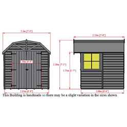7ft x 7ft (2.05m x 1.98m) Stowe Tongue & Groove Apex Garden Shed / Barn  1 Window - Double Doors - 12mm Tongue and Groove Floor