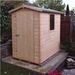 6ft x 4ft (1.79m x 1.19m) - Tongue And Groove -  Apex Workshop - 2 Windows - Single Door - 12mm Tongue And Groove Floor and Roof