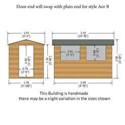 10ft x 6ft (2.99m x 1.79m) - Tongue And Groove - Wooden Apex Workshop - 12mm Tongue And Groove Floor and Roof (CORE)