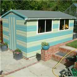 10ft x 8ft (2.99m x 2.39m) - Tongue And Groove - Wooden Apex Workshop - 12mm Tongue And Groove Floor and Roof