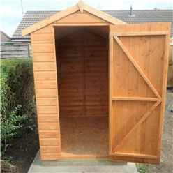 INSTALLED 6ft x 4ft (1.83m x 1.19m) - Tongue & Groove Apex Garden Shed - 1 Window - Single Door - 10mm Solid OSB Floor