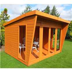 INSTALLED 10 x 10 (2.99m x 3.06m)  - Premier Wooden Summerhouse - Double Doors - 12mm T&G Walls & Floor INSTALLATION INCLUDED