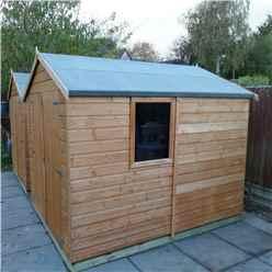 INSTALLED - 8ft x 6ft (2.38m x 1.79m) - Tongue & Groove Apex Garden Shed - 1 Window - Double Doors - 10mm OSB Floor INSTALLATION INCLUDED