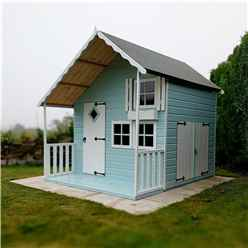INSTALLED - 7ft x 6ft (1.79m x 2.09m) - Crib Playhouse - 12mm Tongue and Groove INSTALLATION INCLUDED