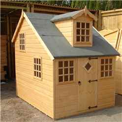 INSTALLED - 6ft x 8ft (2.39m x 1.79m) - Cottage Playhouse - 12mm Tongue and Groove INSTALLATION INCLUDED