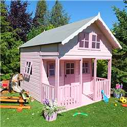 INSTALLED - 8ft x 9ft (2.69m x 2.39m) - Lodge Playhouse - 12mm Tongue and Groove INSTALLATION INCLUDED