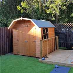 INSTALLED - 7ft x 7ft (2.05m x 1.97m) - Stowe Tongue & Groove - Apex Garden Shed /Barn - 1 Window - 12mm Tongue and Groove Floor  INSTALLATION INCLUDED