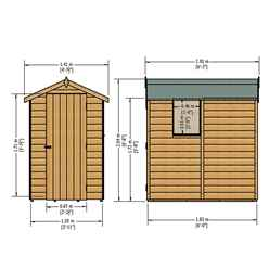 INSTALLED - 6ft x 4ft (1.83m x 1.19m) - Stowe Tongue & Groove - Apex Garden Shed - 1 Window - Single Door - 10mm Solid OSB Floor