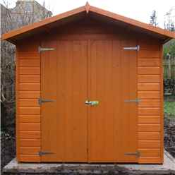 INSTALLED - 13ft x 7ft (4.03m x 2.05m) - Stowe Tongue & Groove - Apex Garden Shed - 2 Opening Windows - Double Doors - 12mm Tongue and Groove Floor INSTALLATION INCLUDED
