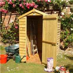 INSTALLED 6ft x 4ft (1.86m x 1.19m) - Overlap Pressure Treated - Apex Garden Shed - 1 Window - Single Door - 10mm Solid ODB Floor