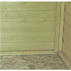 INSTALLED 4ft x 6ft (1.19m x 1.79m) - Overlap Pressure Treated - Apex Garden Shed - Windowless - Double Doors - 10mm Solid OSB Floor INSTALLATION INCLUDED