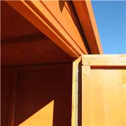 INSTALLED - 10ft x 6ft (2.99m x 1.79m) - Tongue And Groove Security - Apex Garden Wooden Shed - High Level Windows - Single Door - 12mm Tongue And Groove Floor And Roof  INSTALLATION INCLUDED
