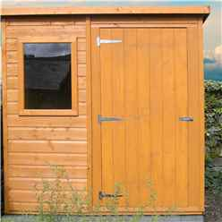 INSTALLED - 6ft x 4ft (1.16m x 1.77m) - Tongue And Groove - Pent Garden Shed - 1 Opening Window - Single Door - 10mm Solid OSB Floor INSTALLATION INCLUDED