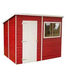 INSTALLED - 8ft x 6ft (1.83m x 2.39m) - Tongue And Groove - Pent Garden Shed - 1 Opening Window - Single Door - 10mm Solid OSB Floor - INCLUDES INSTALLATION