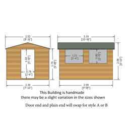 INSTALLED - 10ft x 8ft (2.99m x 2.39m) Tongue And Groove - Wooden Apex Workshop - 12mm Tongue And Groove Floor and Roof