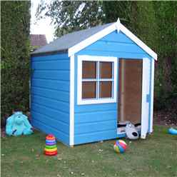 INSTALLED - 4ft x 4ft (1.19m x 1.19m) - Wooden Playhut Playhouse
