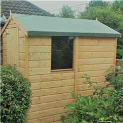 6ft x 4ft (1.82m x 1.2m) - Pressure Treated Tongue And Groove - Apex Garden Shed / Workshop - 1 Window - Single Door - 10mm Solid OSB Floor