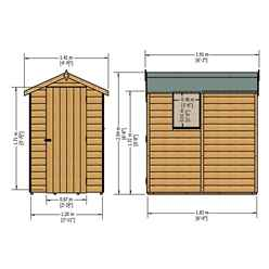 INSTALLED 6ft x 4ft (1.82m x 1.2m) - Pressure Treated Tongue And Groove - Apex Garden Shed / Workshop - 1 Window - Single Door - 10mm Solid OSB Floor - INCLUDES INSTALLATION