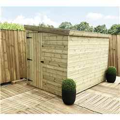INSTALLED 5FT x 4FT Windowless Pressure Treated Tongue & Groove Pent Shed + Side Door - INCLUDES INSTALLATION
