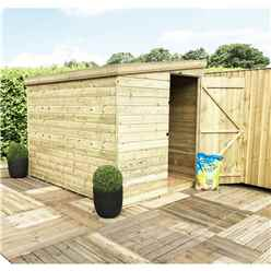 INSTALLED 8FT x 4FT Windowless Pressure Treated Tongue & Groove Pent Shed + Side Door - INCLUDES INSTALLATION