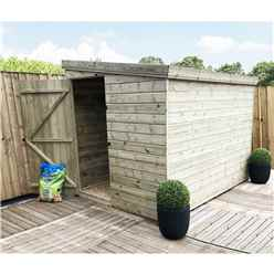 INSTALLED 8FT x 6FT Windowless Pressure Treated Tongue & Groove Pent Shed + Side Door - INCLUDES INSTALLATION
