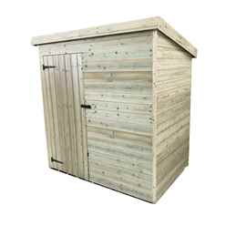 INSTALLED 5FT x 3FT Pressure Treated Tongue & Groove Pent Shed + Single Door INCLUDES INSTALLATION