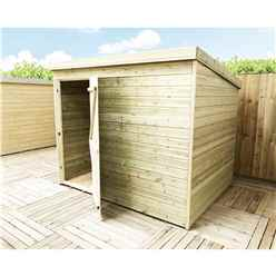 INSTALLED 7FT x 3FT Windowless Pressure Treated Tongue And Groove Pent Shed With Single Door INCLUDES INSTALLATION