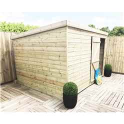 INSTALLED 10FT x 3FT Windowless Pressure Treated Tongue & Groove Pent Shed + Single Door INCLUDES INSTALLATION
