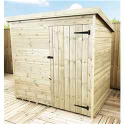 INSTALLED 4FT x 4FT Windowless Pressure Treated Tongue & Groove Pent Shed + Single Door INCLUDES INSTALLATION