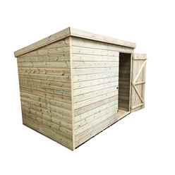 INSTALLED 8FT x 4FT Windowless Pressure Treated Tongue & Groove Pent Shed + Single Door INCLUDES INSTALLATION