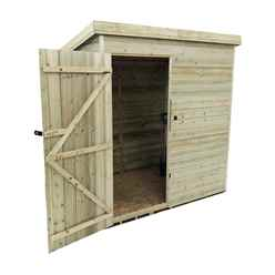 INSTALLED 6FT x 5FT Windowless Pressure Treated Tongue & Groove Pent Shed + Single Door INCLUDES INSTALLATION