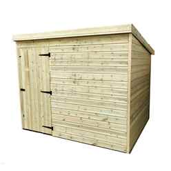 INSTALLED 8FT x 6FT Windowless Pressure Treated Tongue & Groove Pent Shed + Single Door INCLUDES INSTALLATION